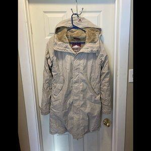 Aritzia TNA domino derval long parka coat medium